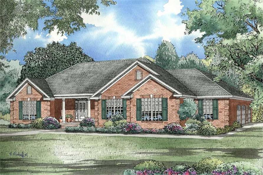 Traditional Ranch House Plan - Three Bedrooms | Plan #153-1432 on 4 br ranch house plans, side entry garage ranch house plans, cathedral ceiling ranch house plans, 3 br ranch house plans, galley kitchen ranch house plans, corner lot ranch house plans, country ranch style house plans, basement ranch house plans, brick ranch house plans, open floor plan ranch house plans, exterior ranch house plans, modern ranch style house plans, gazebo ranch house plans, 2 bedroom ranch house plans, 3 car garage ranch house plans,