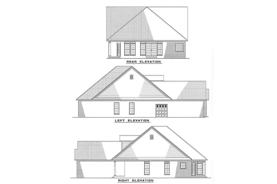 Other Elevations of this 3-Bedroom,1535 Sq Ft Plan -1535