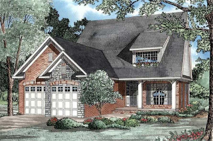 3-Bedroom, 1535 Sq Ft Country House Plan - 153-1433 - Front Exterior