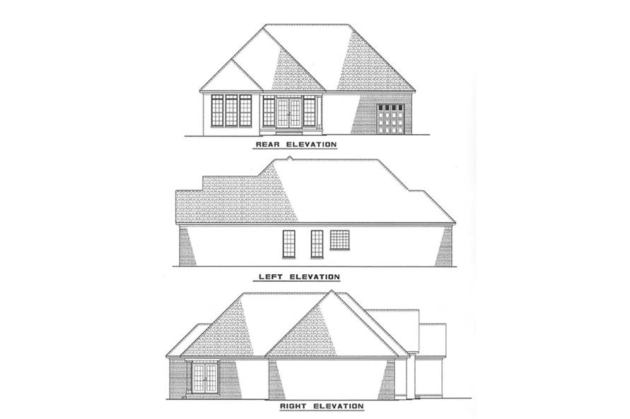 Other Elevations of this 3-Bedroom,1359 Sq Ft Plan -1359