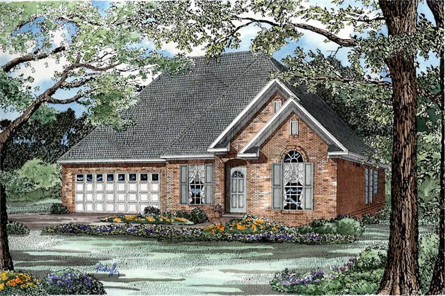 3-Bedroom, 1359 Sq Ft Country House Plan - 153-1434 - Front Exterior