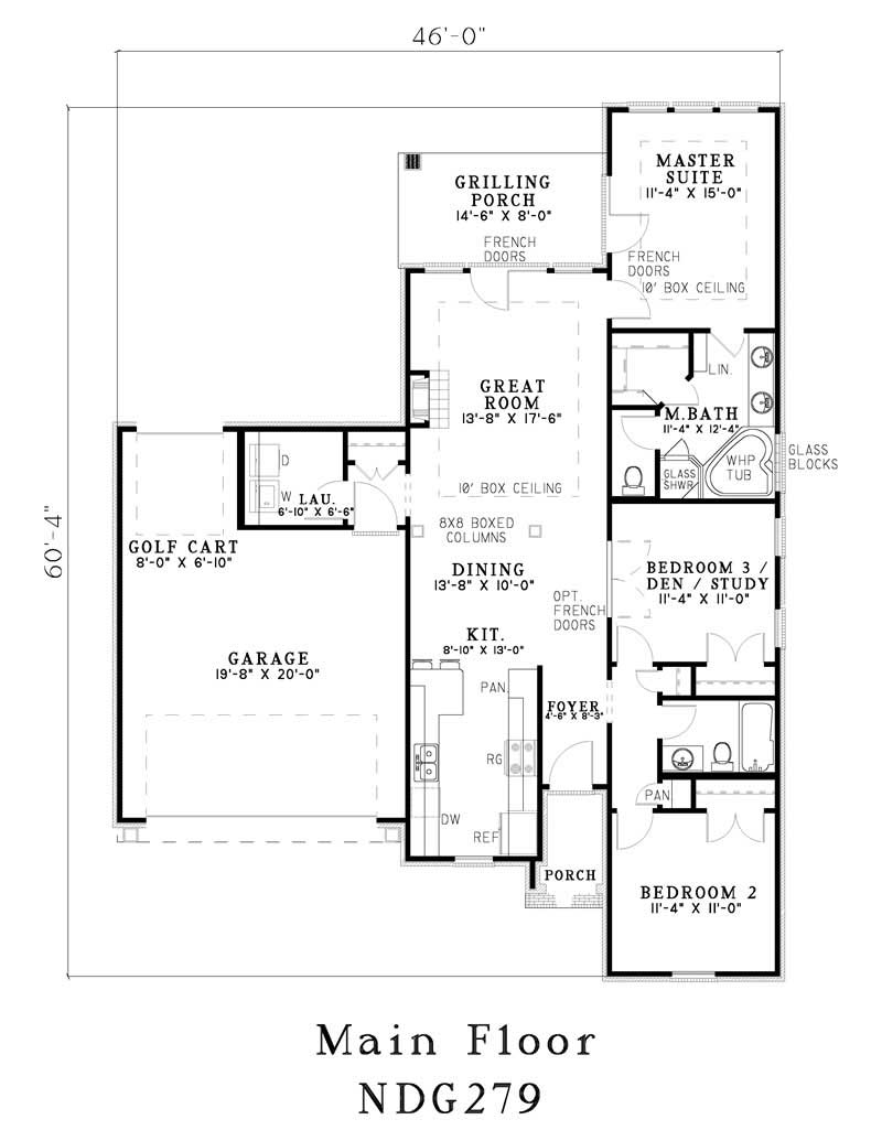Small country french house plans home design ndg 279 for Small french house plans