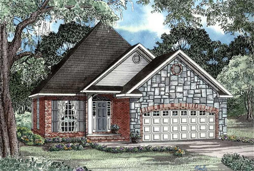 Front elevation of Country home (ThePlanCollection: House Plan #153-1435)