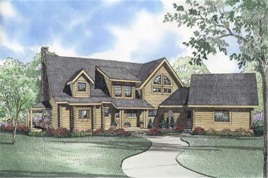 Home Plan Front Elevation of this 3-Bedroom,3537 Sq Ft Plan -153-1439