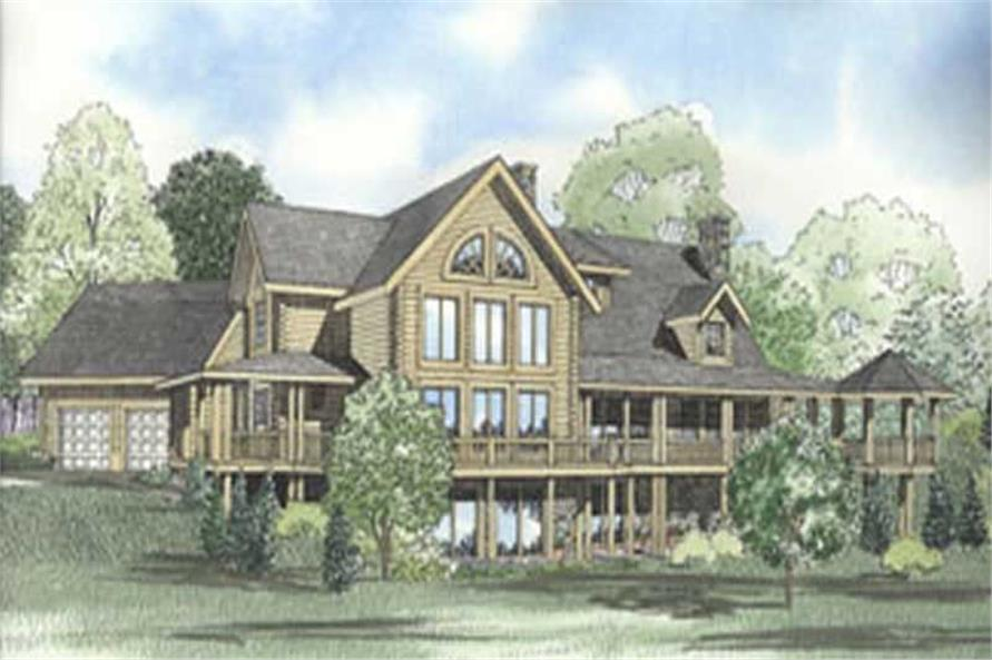 3-Bedroom, 3537 Sq Ft Country House Plan - 153-1439 - Front Exterior