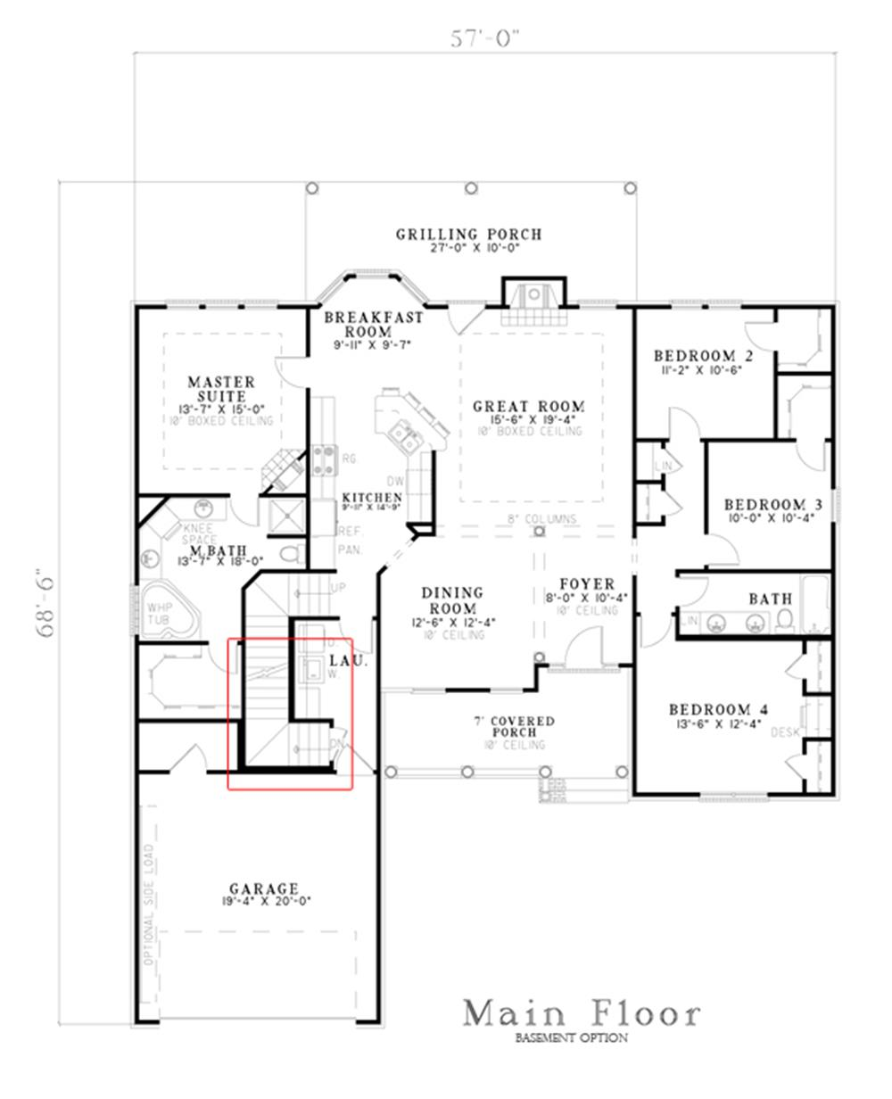 153-1440: Floor Plan Main Level