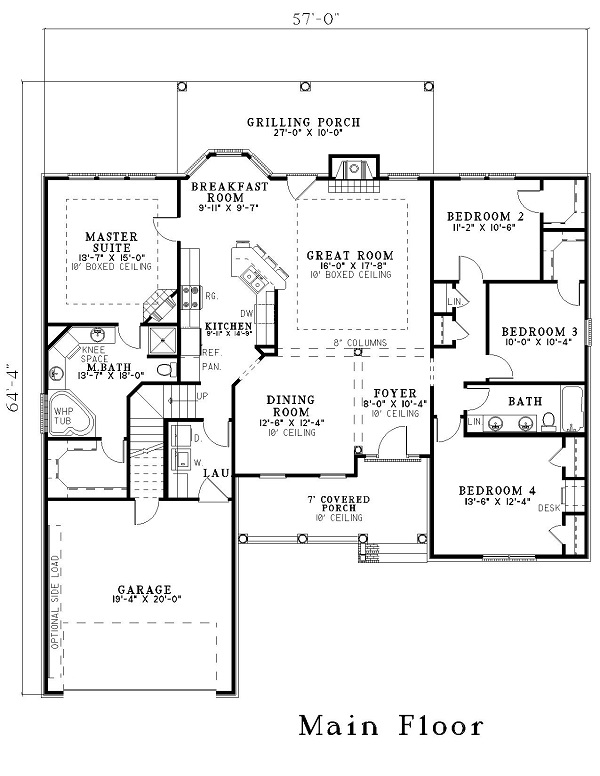153-1440 house plan revised for grt room dimensions
