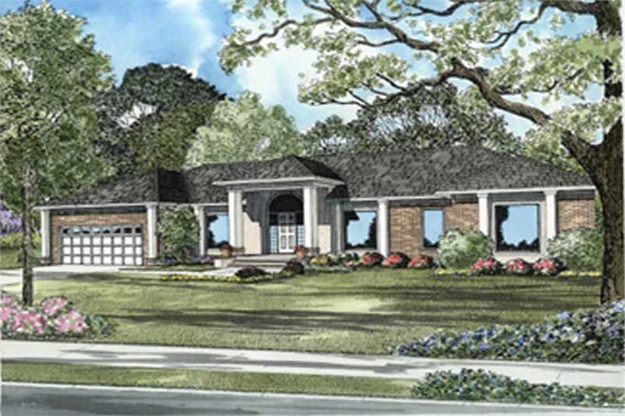 4-Bedroom, 2024 Sq Ft Coastal Home Plan - 153-1441 - Main Exterior