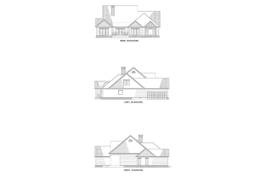 EXTERIOR ELEVATIONS of this 4-Bedroom,2920 Sq Ft Plan -2920
