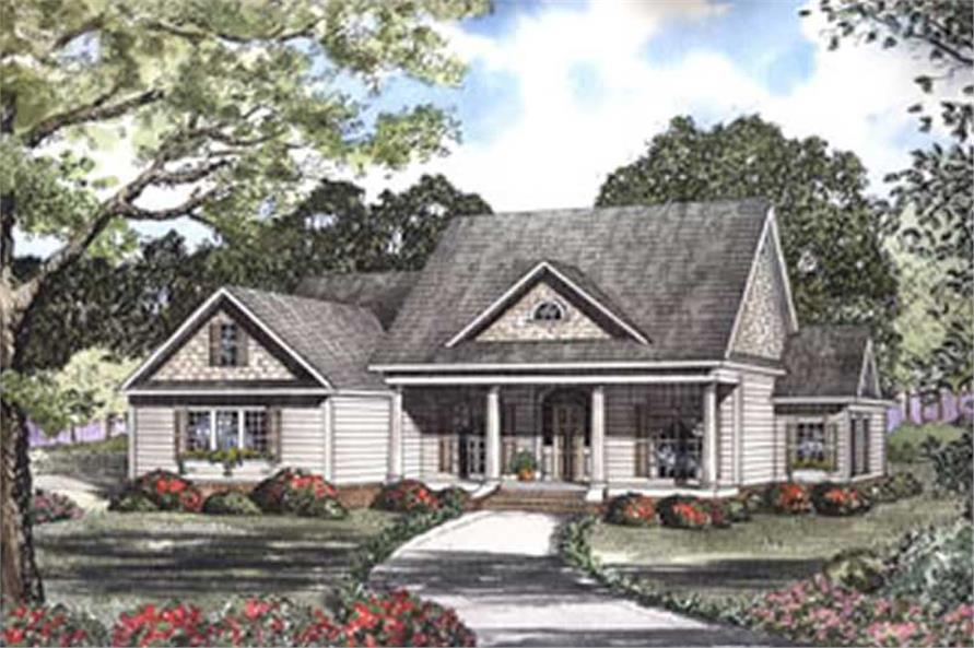 4-Bedroom, 2920 Sq Ft Southern Home Plan - 153-1442 - Main Exterior