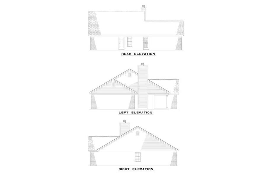 EXTERIOR ELEVATIONS of this 2-Bedroom,1067 Sq Ft Plan -1067