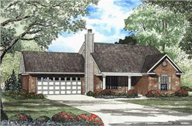 2-Bedroom, 1067 Sq Ft Small House Plans - 153-1443 - Main Exterior