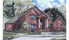 This image shows the Traditional style for these Home Plans.