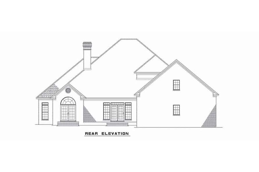 Home Plan Rear Elevation of this 4-Bedroom,4054 Sq Ft Plan -153-1444