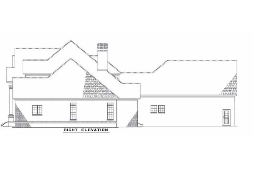 Home Plan Right Elevation of this 4-Bedroom,4054 Sq Ft Plan -153-1444