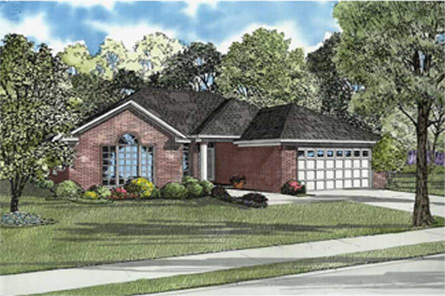 1-Bedroom, 1576 Sq Ft European Home Plan - 153-1445 - Main Exterior