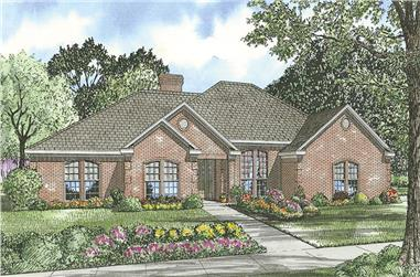 4-Bedroom, 2537 Sq Ft Ranch House Plan - 153-1446 - Front Exterior