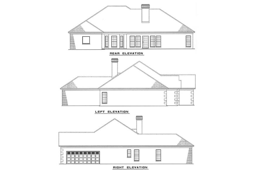 Other Elevations of this 4-Bedroom,2537 Sq Ft Plan -2537