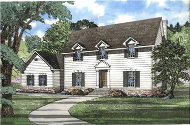 4-Bedroom, 3278 Sq Ft Southern Home Plan - 153-1448 - Main Exterior