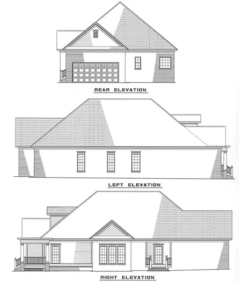 Southern traditional house plans home design ndg 317 3499 for Traditional southern house plans
