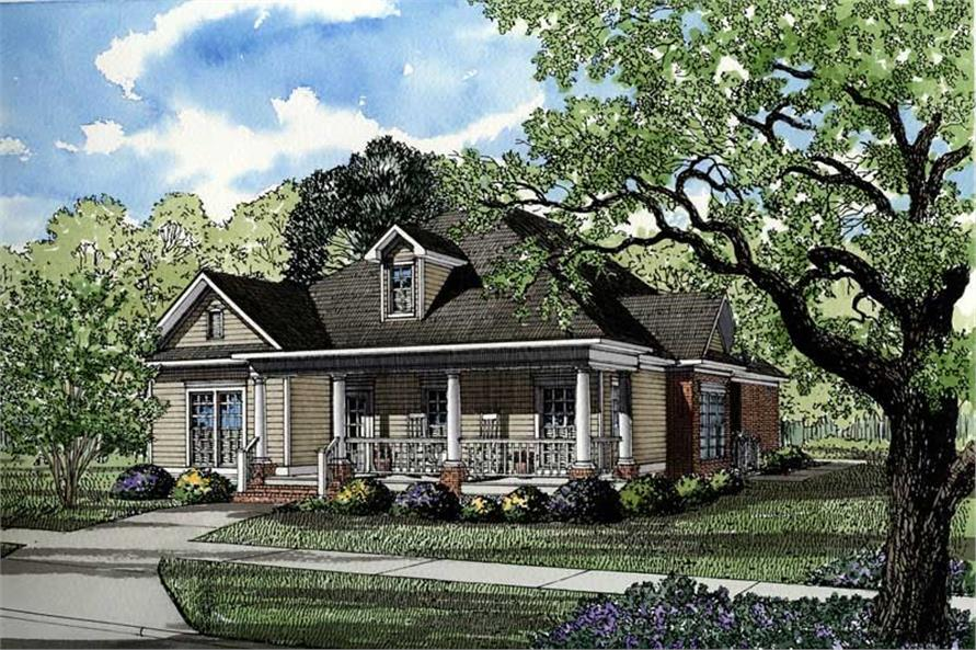3-Bedroom, 1915 Sq Ft Southern Home Plan - 153-1450 - Main Exterior