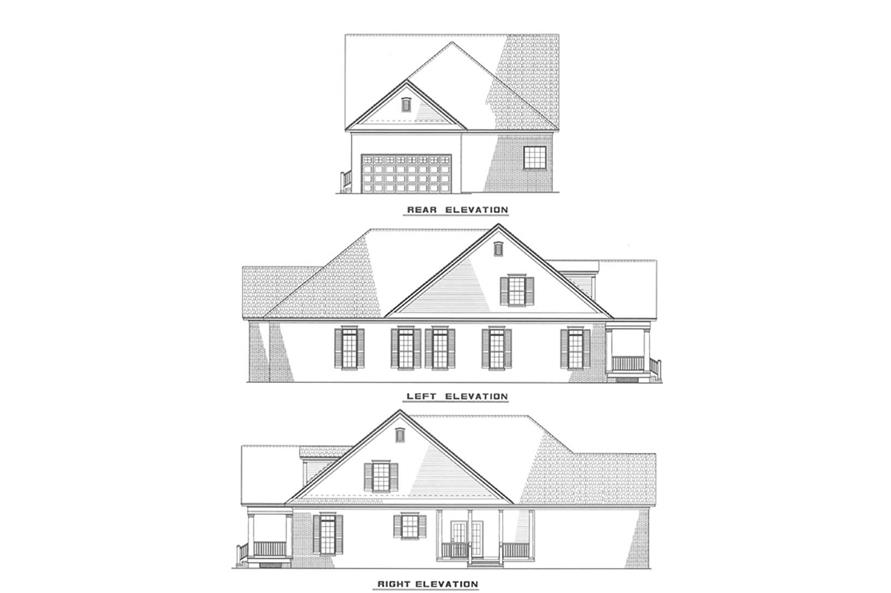 Other Elevations of this 3-Bedroom,2231 Sq Ft Plan -2231