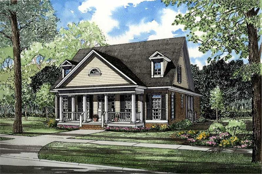 3-Bedroom, 2231 Sq Ft Southern Home Plan - 153-1451 - Main Exterior
