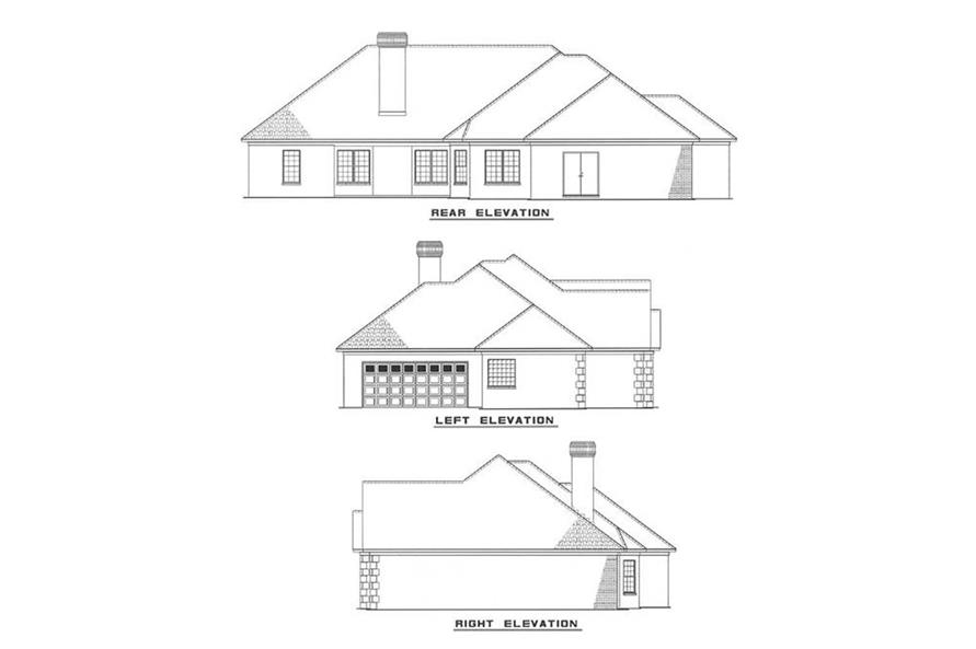 EXTERIOR ELEVATIONS of this 3-Bedroom,2092 Sq Ft Plan -2092
