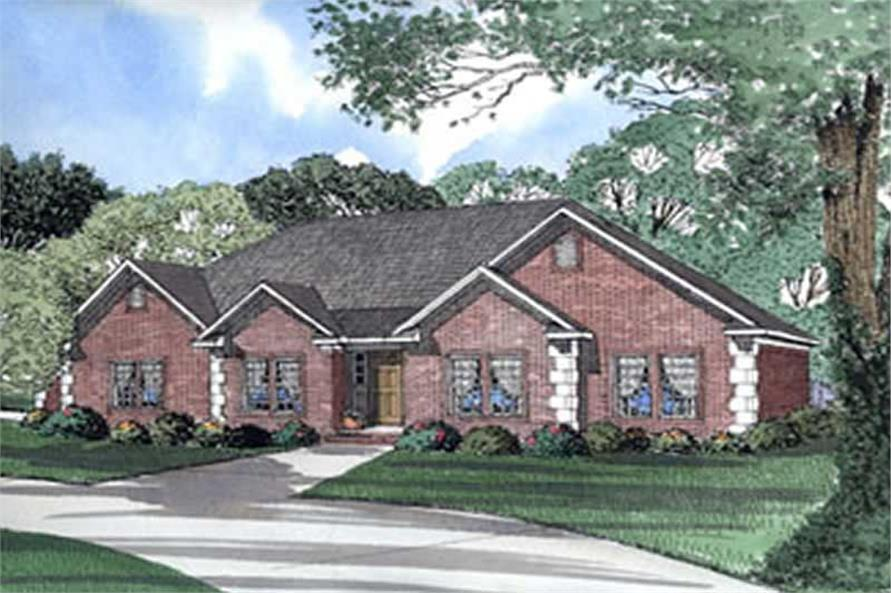 3-Bedroom, 2092 Sq Ft French House Plan - 153-1452 - Front Exterior