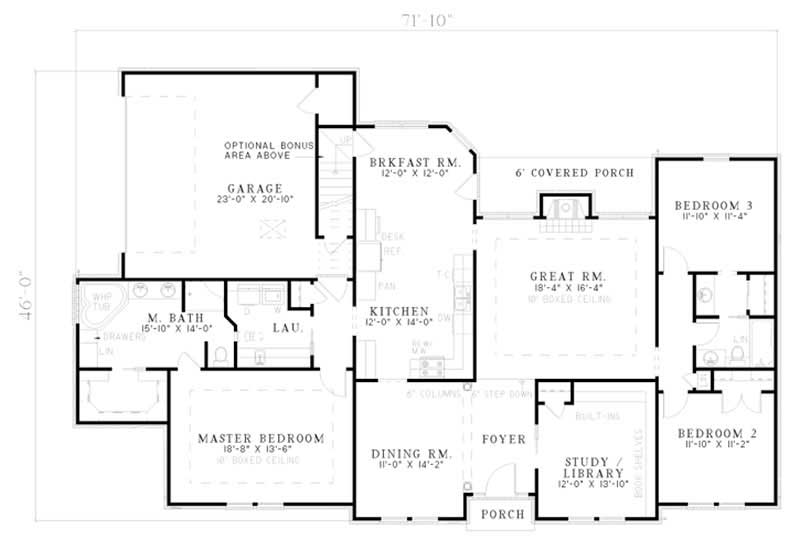 Traditional french house plans home design ndg 110 5580 for 110 sq ft bedroom design