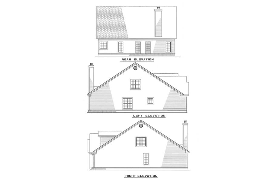 Other Elevations of this 3-Bedroom,1860 Sq Ft Plan -1860