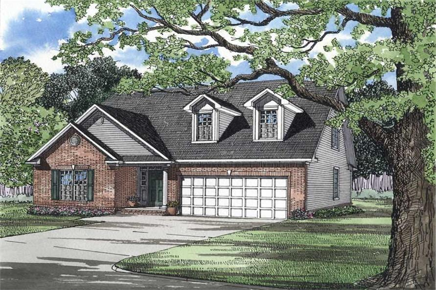 3-Bedroom, 1860 Sq Ft French Home Plan - 153-1453 - Main Exterior