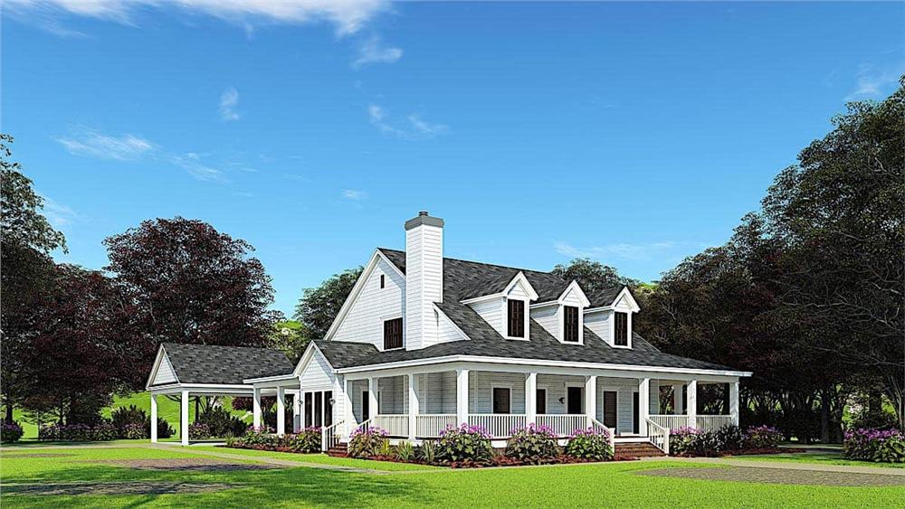 Southern home (ThePlanCollection: House Plan #153-1454)