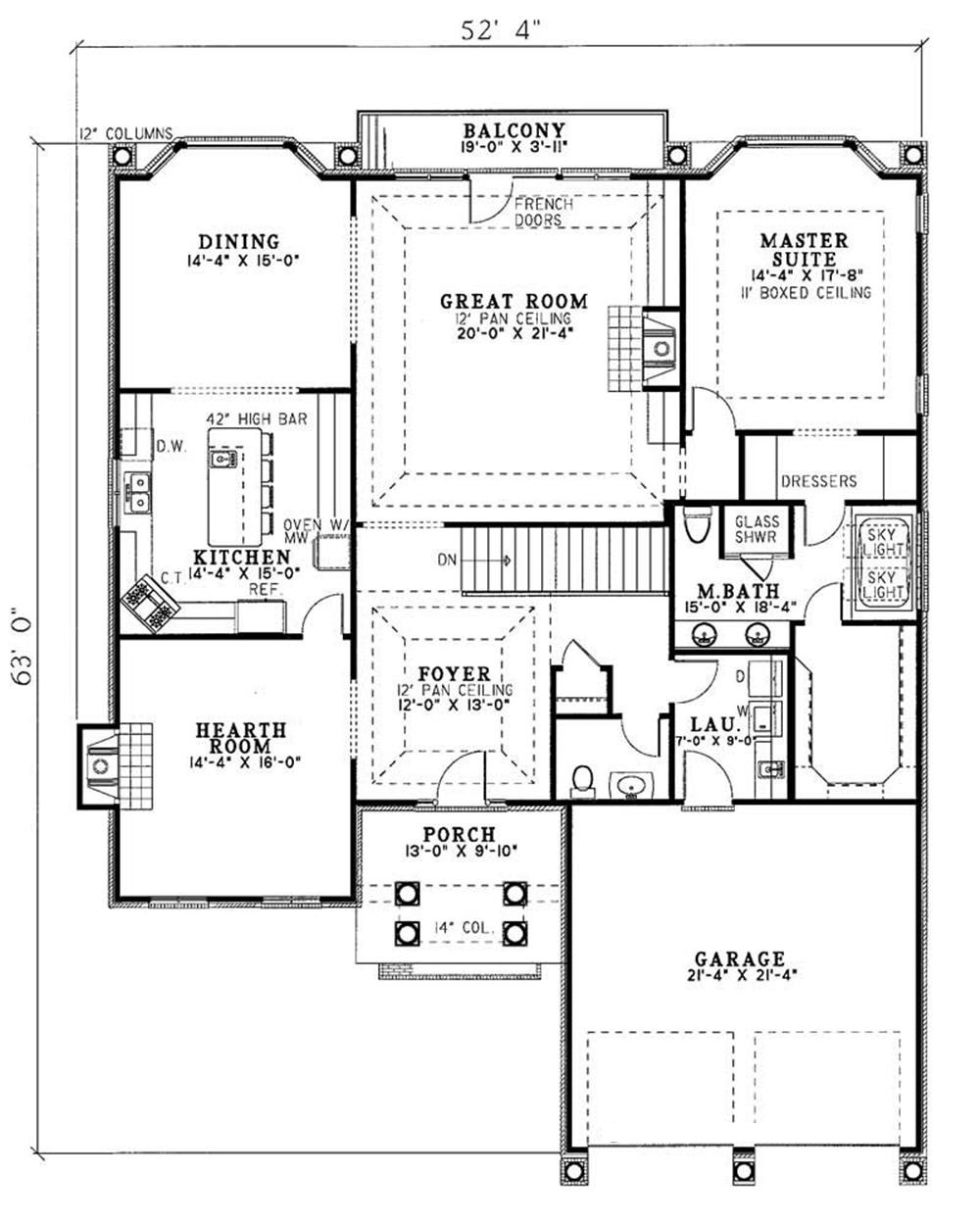 Traditional french house plans home design 3511 for Traditional floor plans