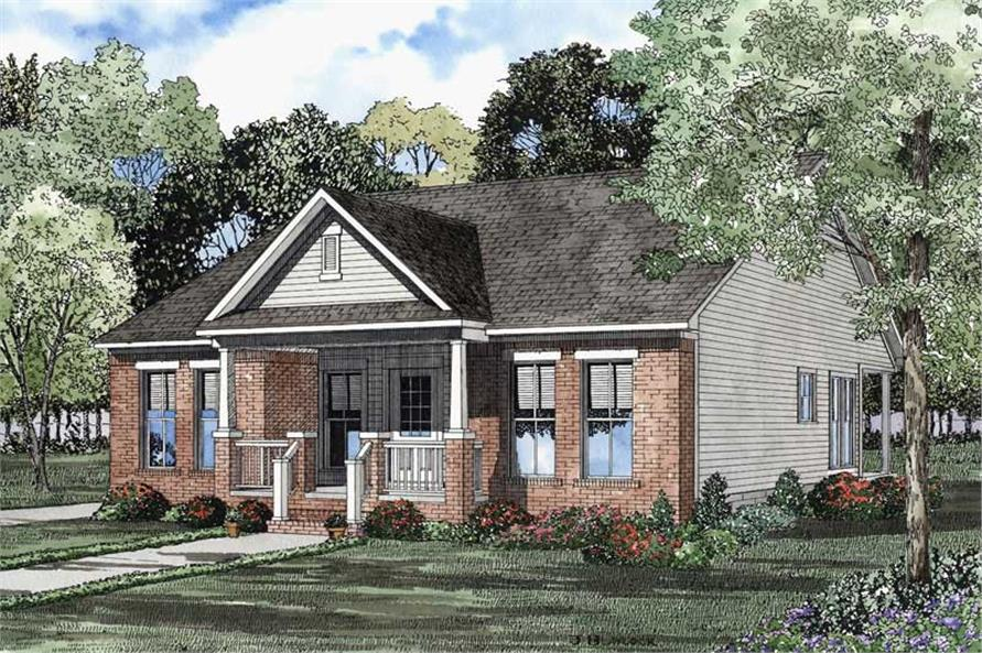 3-Bedroom, 1442 Sq Ft Country House Plan - 153-1459 - Front Exterior