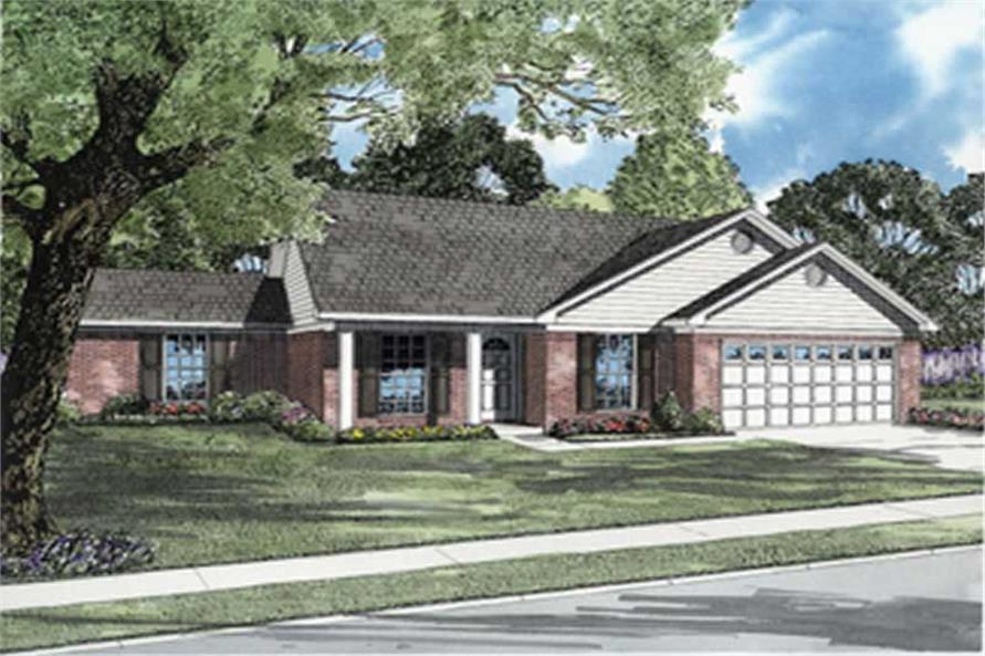 4-Bedroom, 1271 Sq Ft Ranch Home Plan - 153-1461 - Main Exterior