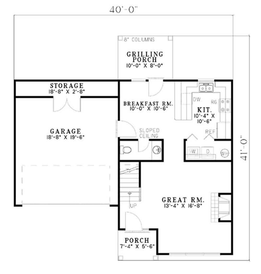 Large Images For House Plan 153 1462