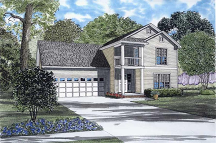 3-Bedroom, 1283 Sq Ft Southern Home Plan - 153-1462 - Main Exterior