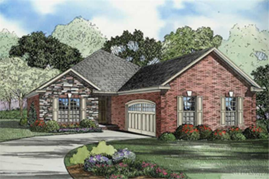 2-Bedroom, 1714 Sq Ft Contemporary Home Plan - 153-1463 - Main Exterior