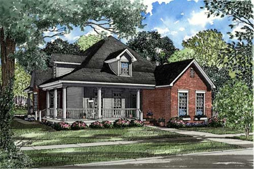 3-Bedroom, 1845 Sq Ft Southern Home Plan - 153-1465 - Main Exterior