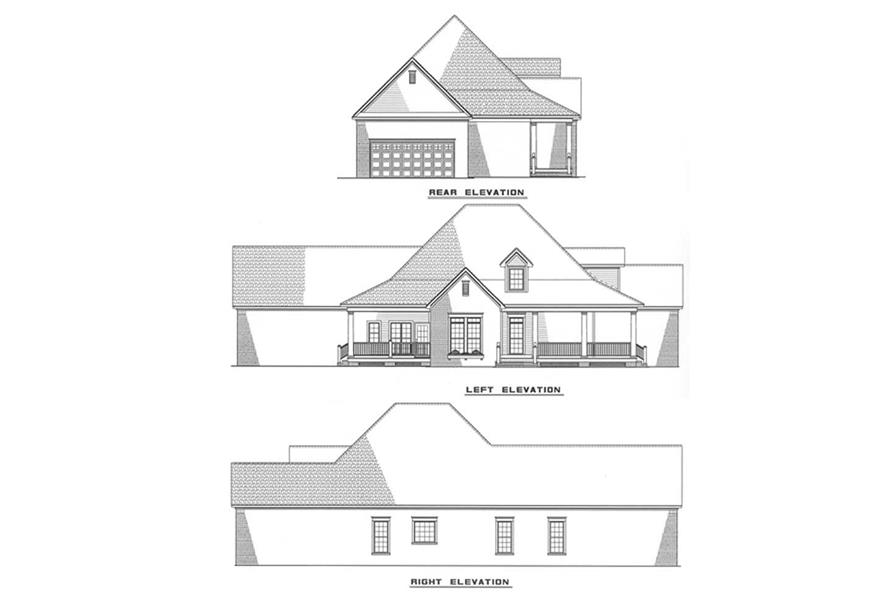 Other Elevations of this 3-Bedroom,1845 Sq Ft Plan -1845