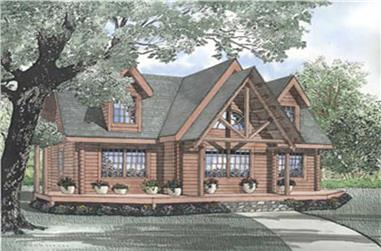 Log Homeplans color rendering.