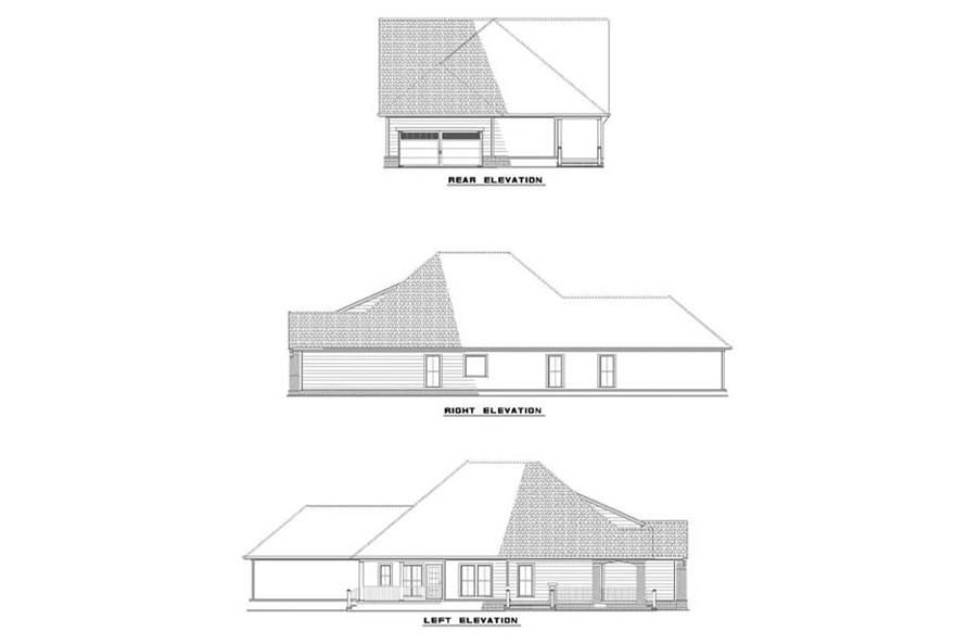 EXTERIOR ELEVATIONS of this 3-Bedroom,1836 Sq Ft Plan -1836