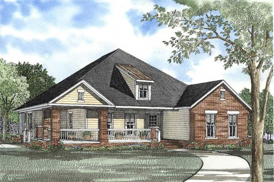 3-Bedroom, 1836 Sq Ft Craftsman House Plan - 153-1467 - Front Exterior