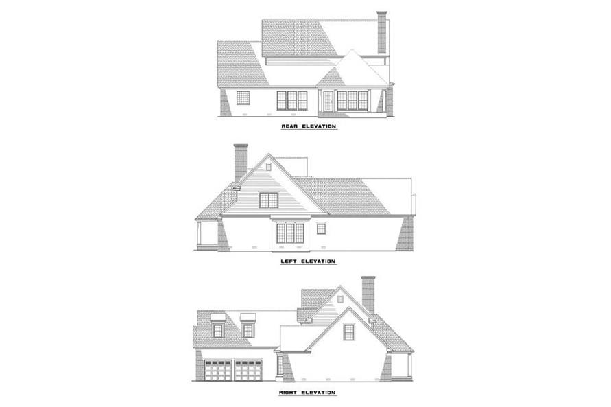 EXTERIOR ELEVATIONS of this 4-Bedroom,2886 Sq Ft Plan -2886