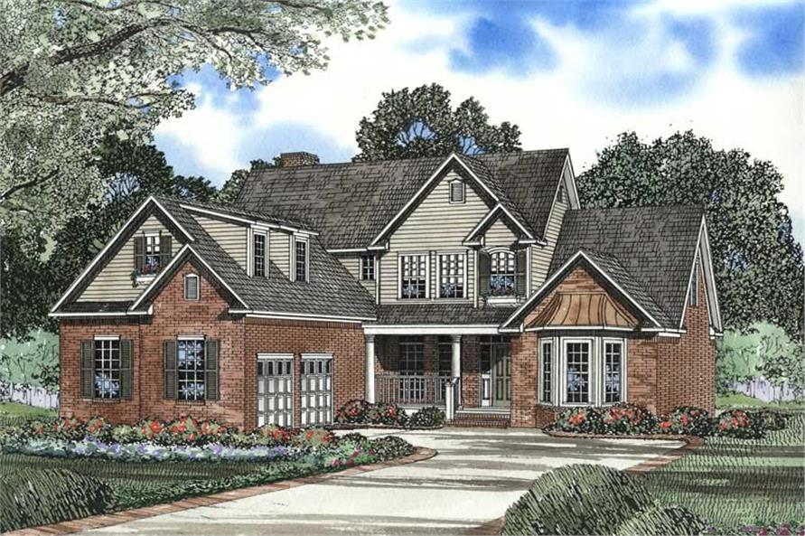 4-Bedroom, 2886 Sq Ft Craftsman House Plan - 153-1468 - Front Exterior