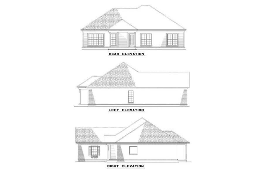 EXTERIOR ELEVATIONS of this 3-Bedroom,1560 Sq Ft Plan -1560