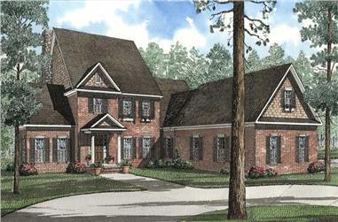 5-Bedroom, 3946 Sq Ft Craftsman Home Plan - 153-1471 - Main Exterior