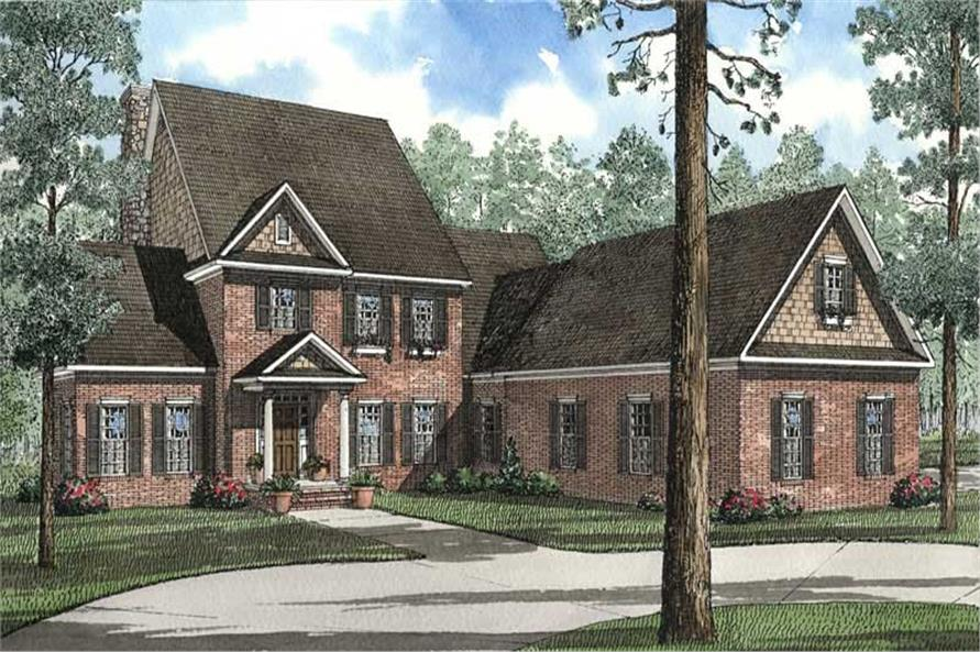 5-Bedroom, 3946 Sq Ft Craftsman Home Plan - 153-1471 - Main Exterior