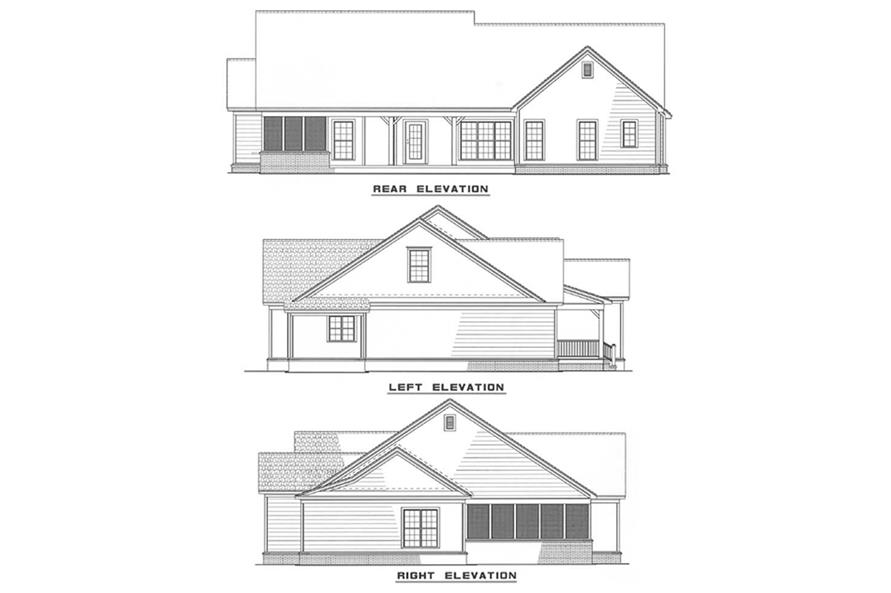 Other Elevations of this 3-Bedroom,1923 Sq Ft Plan -1923